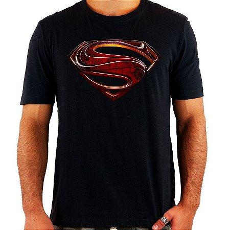 Camiseta Superman - Man of Steel - Quadricromia