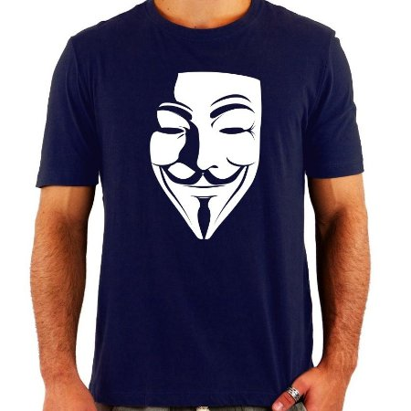 Camiseta V de Vingança - Várias Cores