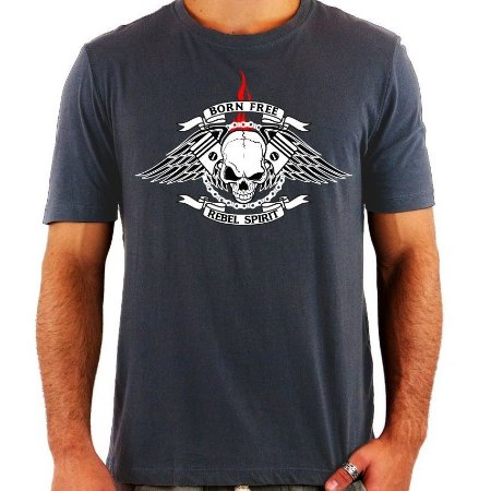 Camiseta Born Free Rebel Spirit - Vários Modelos