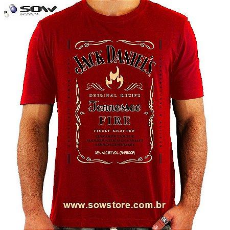 Camiseta  Jack Daniels Fire - Vários Modelos