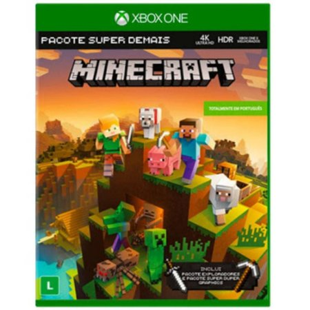 Minecraft Pacote super demais Xbox One Mídia Fisica