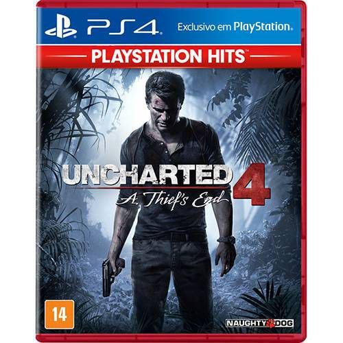 Uncharted 4 A Thiefs End PS4 MIDIA FISICA
