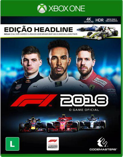 F1 2018 HEADLINE EDITION Xbox One MIDIA FISICA