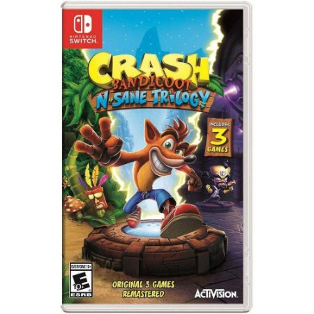 Crash Bandicoot N Sane Trilogia Nintendo Switch MIDIA FISICA