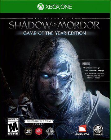 Terras Médias Sombras de Mordor Game do Ano Xbox One