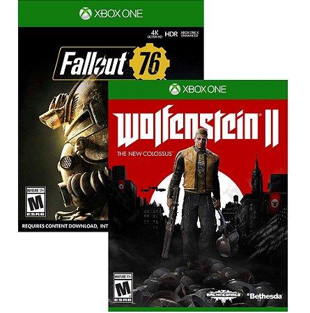 Kit Fllaout 76 + Wolfenstein 2 Xbox One MIDIAS FISICAS