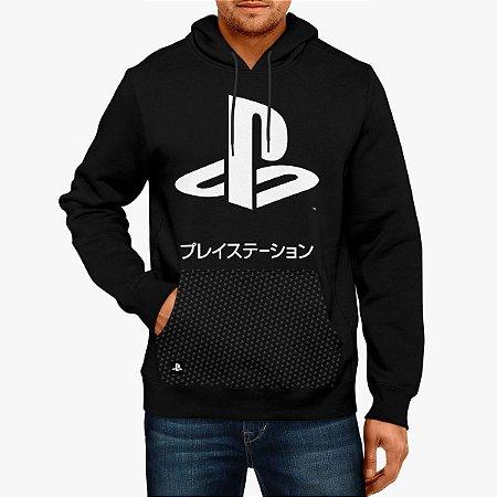 Blusa Moletom Playstation KATAKANA HOOD (Produto Licenciado Sony)