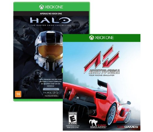 kit Halo Master Chief Collection e Assetto Corsa Xbox One Midia fisica