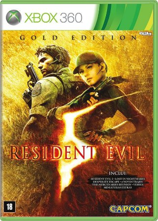 Resident Evil 5 Gold Xbox 360 Mídia Física