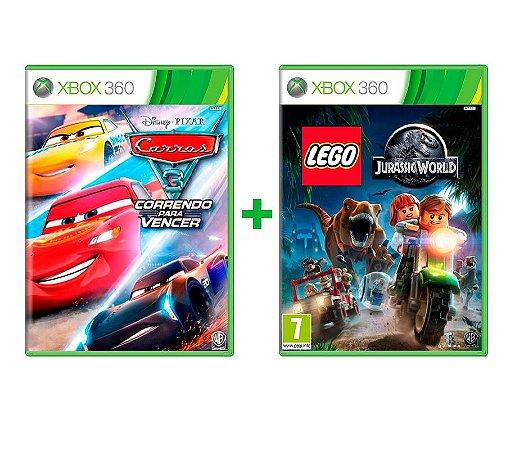 Carros 3 + Lego Jurassic World Xbox 360 Mídia Física