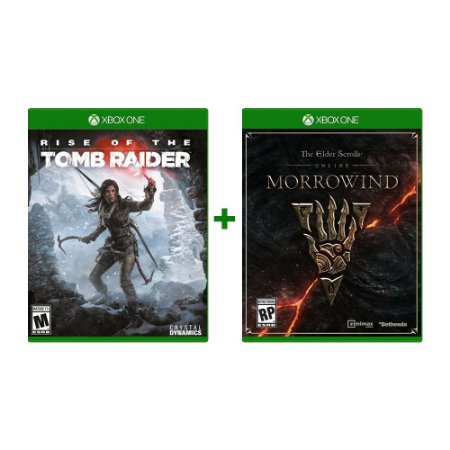 Rise Of The Tomb Raider + The Elder Scrolls Online: Morrowind Xbox One Midia Física