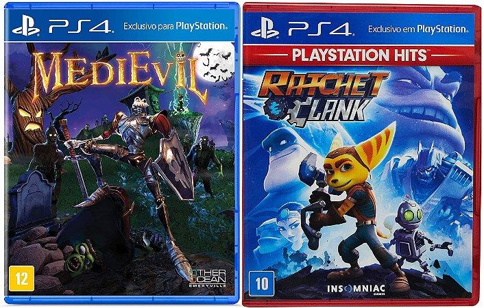 Kit Ratchet & Clank + Medievil PS4 MIDIA FISICA
