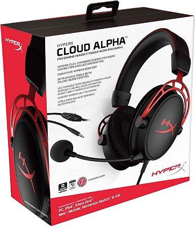 HyperX Gaming Headset Cloud Alpha compatível com PC, PS4, Xbox One, Nintendo Switch