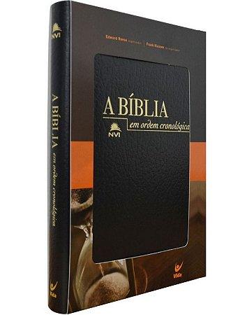 Bíblia em Ordem Cronológica NVI (Capa Covertex Preta)