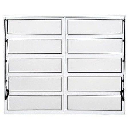 Vitro Basculante em Aluminio branco com 02 seções