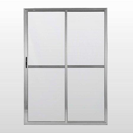 Porta Balcão de Aluminio 02 folhas C/Vidro