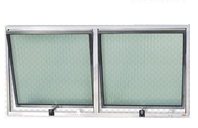 Vitro Maxim ar de Aluminio com 02 seções vidro canelado