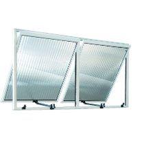 Vitro Maxim ar de Aluminio branco com 02 seções vidro canelado