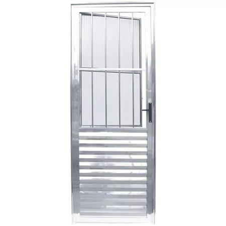 Porta Aluminio Social / Sala brilhante Postigo