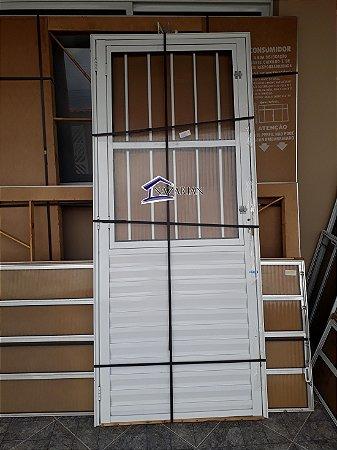 Porta Social / Sala Aluminio branco Postigo