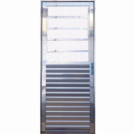 Porta Social Travessa Aluminio brilhante
