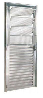 Porta Social Basculante Aluminio brilhante 03 Vidros articulados