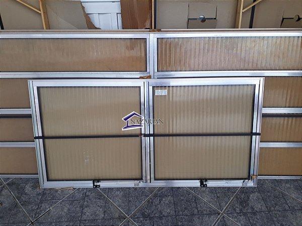 Vitro maxim ar aluminio brilhante 02 seções