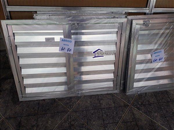 Portinhola abrigo / alçapão aluminio brilhante