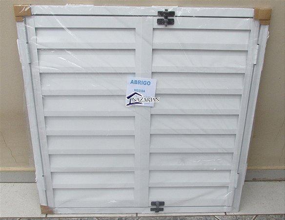 Porta abrigo / alçapão aluminio branco