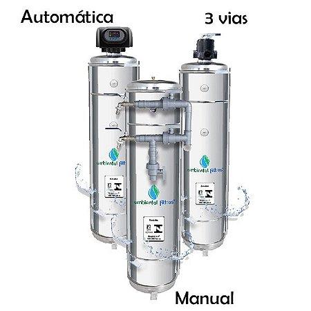 Filtro Central em Aço Inox 304 - 1000 L/h a 1500 L/h