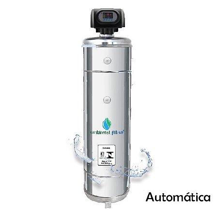 Filtro Central  - 1000 L/h a 1500 L/h em Aço Inox 304 com Válvula Automática
