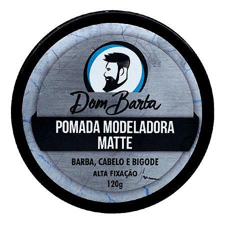 Pomada Modeladora Matte - Dom Barba: alta fixação, modela os fios da barba, cabelo e bigode. Reduz o volume e assenta os fios.
