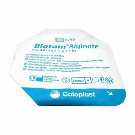 CURATIVO BIATAIN AG AlGINATO FITA 3x44 O378O COLOPLAST