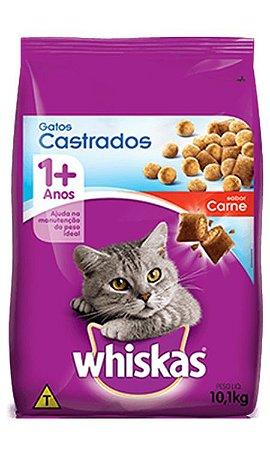 Whiskas Gatos Castrados Carne 10,1kg