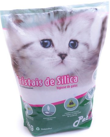 Areia Petlike Cristais De Sílica Para Gatos 1,6kg