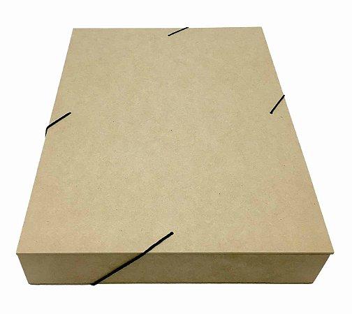 Caixa Pasta Com Elástico G De Mdf Documentos - 36x26x5,5 Cm