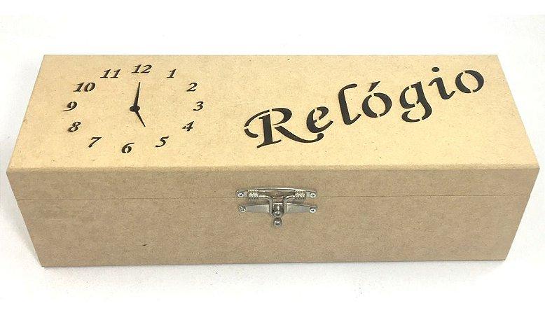 Caixa Porta Relógio Com 5 Cavidades De Mdf  34 X 12 X 10 Cm