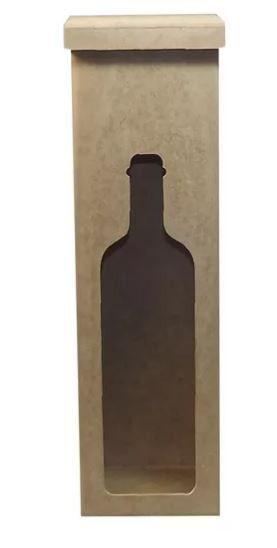 Caixa Para Vinho Vazada Mdf