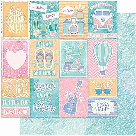 Papel Para Scrapbook Dupla Face 30,5 cm x 30,5 cm – Cultive Amor, Verão / Flechas SD-991