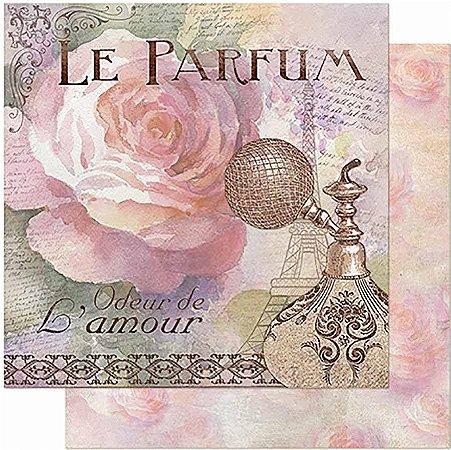 Papel Para Scrapbook Dupla Face 30,5 cm x 30,5 cm - Perfume E Rosas SD-948