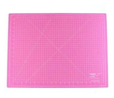 Base De Corte Dupla Face 60 X 45 Cm - Scrap - Rosa
