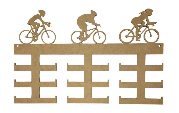Quadro Medalha Mdf Ciclismo - 18 Medalhas