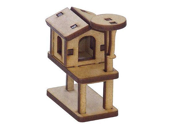 Miniatura Casinha Arranhador Para Gato A080