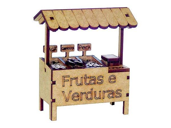 Miniatura Barraca de Frutas e Verduras A074