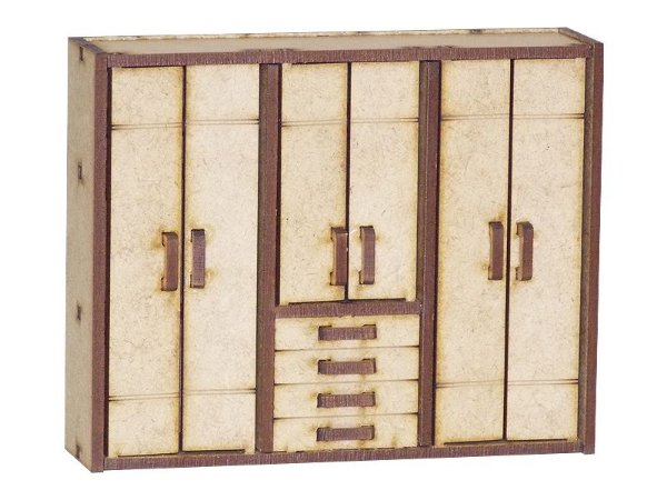 Miniatura Guarda Roupa de Casal A068