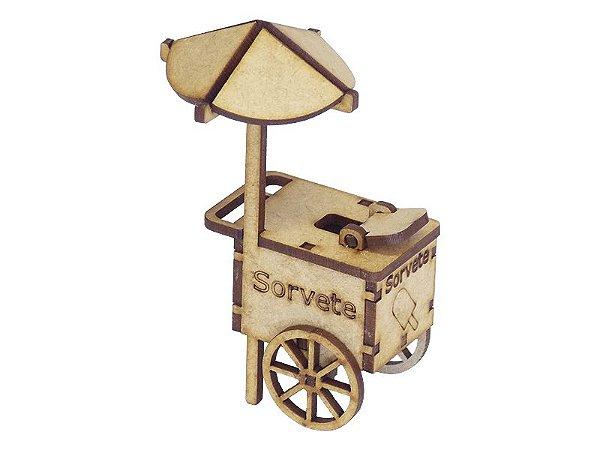Miniatura Carrinho de Sorvete A062