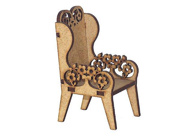 Miniatura Cadeira Floral A019