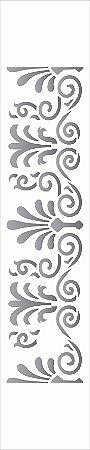 Stencil de Acetato para Pintura OPA Simples 6 x 30 cm - 2612 Arabesco Grego