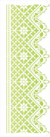 Stencil de Acetato para Pintura OPA Simples 17 x 42 cm - Negativo Renda I 2625