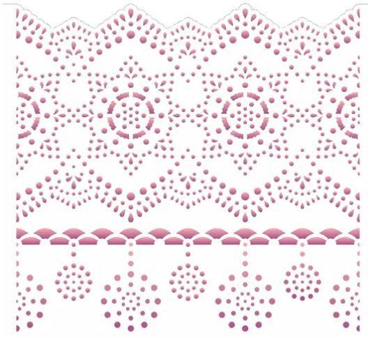 Stencil de Acetato para Pintura OPA Simples  15 X 20 cm - Negativo Renda II 2610